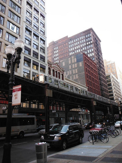 elevated line view from Wabash and Monroe