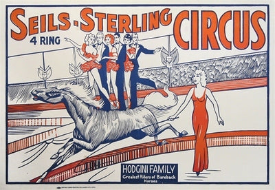 ANONYMOUS - SEILS - STERLING 4 Ring CIRCUS, c.1938 with the Hodgini Family