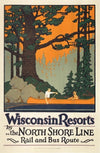 Oscar Rabe Hanson, Wisconsin Resorts by The North Shore Line - Numbered Limited Edition