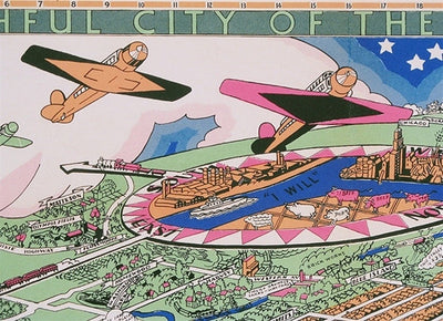Turzak & Chapman, Chicago USA Map of the City,1931 - Numbered Limited Edition