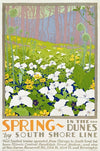Huelster, Spring In the Dunes by the South Shore Line  - Numbered Limited Edition