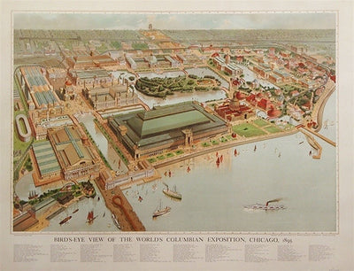 Bird's Eye View of the Columbian Exposition, 1893 (repro) - Numbered Limited Edition