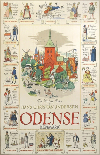 Hjortzberg, Olle - Odense - The Native Town Of Hans Christian Andersen, 1950