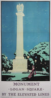 Oscar Rabe Hanson, Monument - Logan Square by the Elevated Lines - numbered limited edition