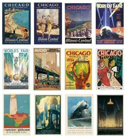 Wholesale Chicago Vintage Poster Reproductions
