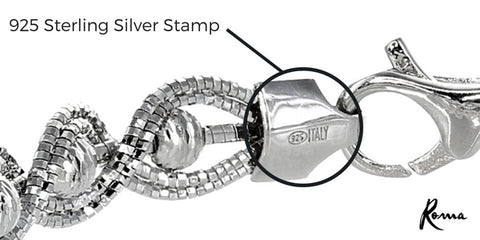 925 Sterling SIlver Stamp | Made in Italy