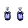 Swarovski Crystal Square Tanzanite Earrings