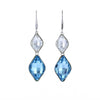 Swarovski Crystal Double Diamond Earrings