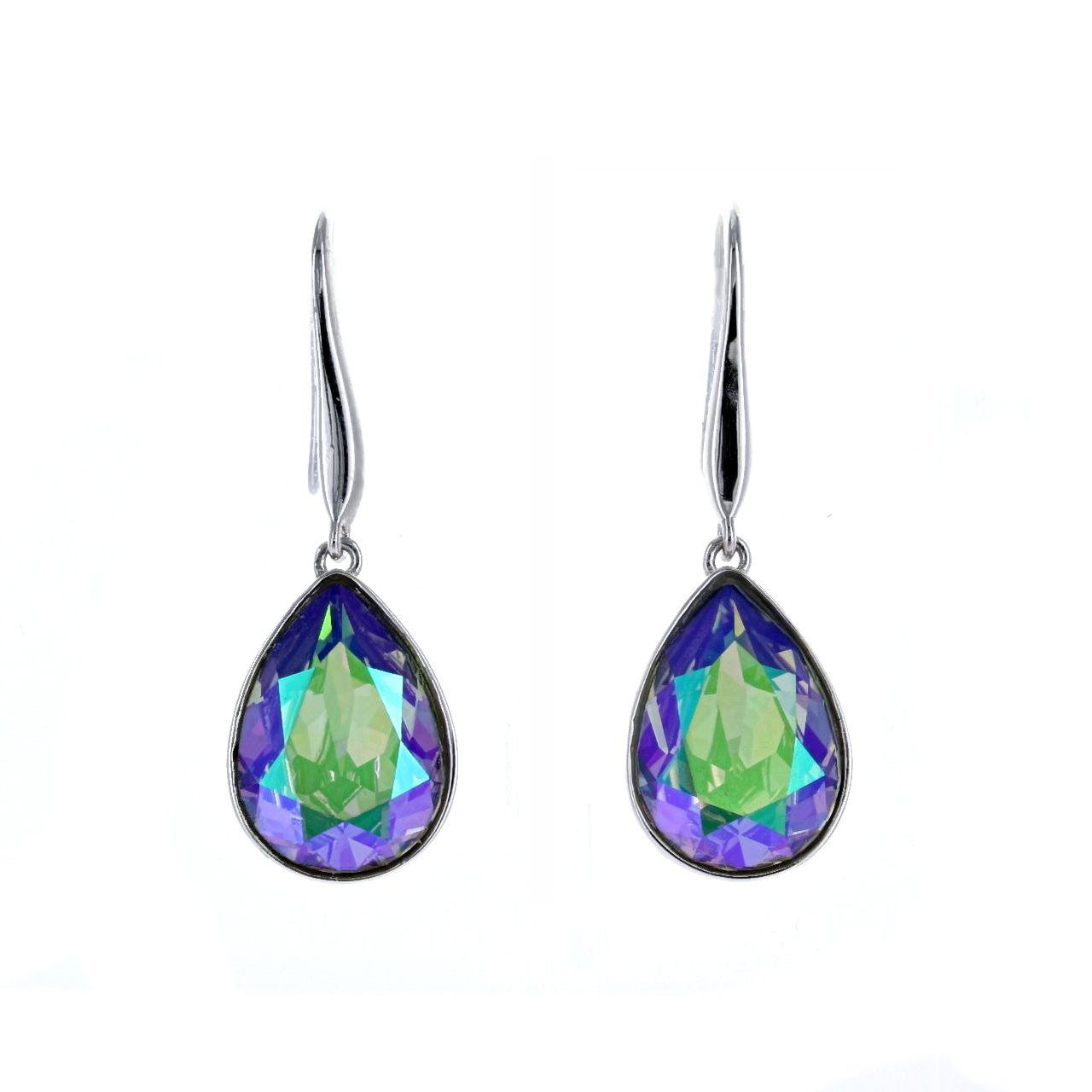 Crystal Collection Earrings Color / Silver Swarovski Crystal Paradise Shine Teardrop Earrings