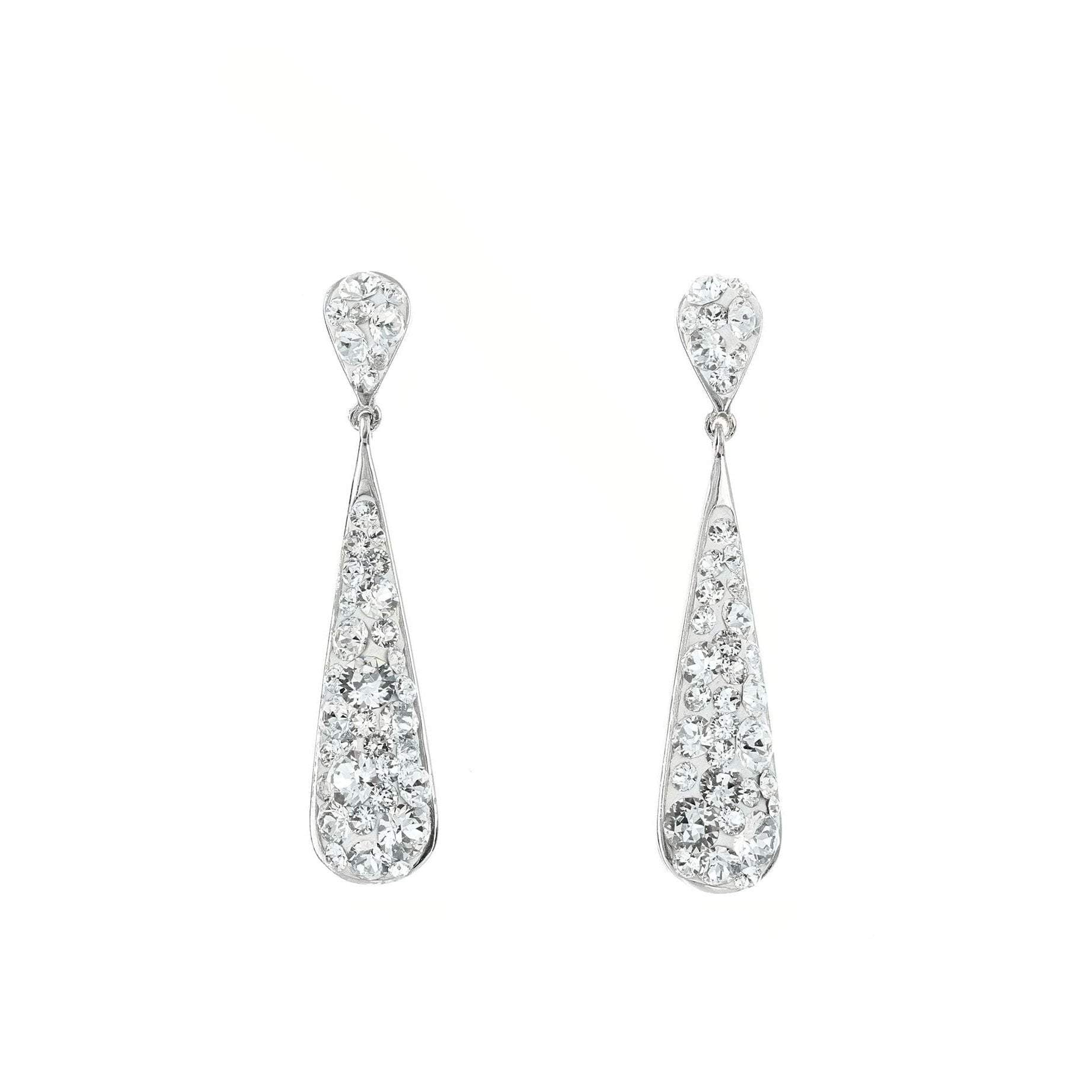 Swarovski Crystal Post Drop Earrings