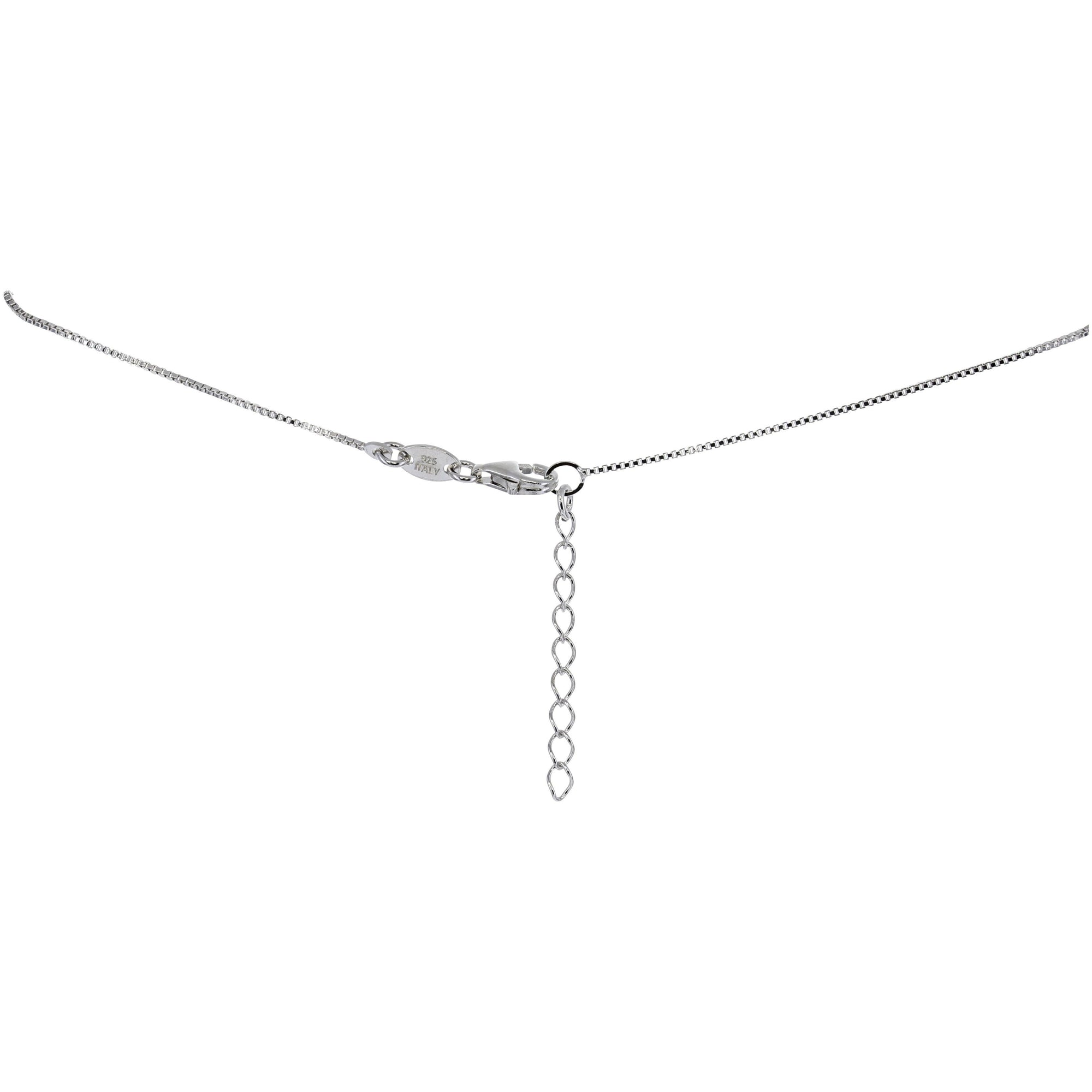 Swarovski Crystal Simple Drop Necklace in Sterling Silver