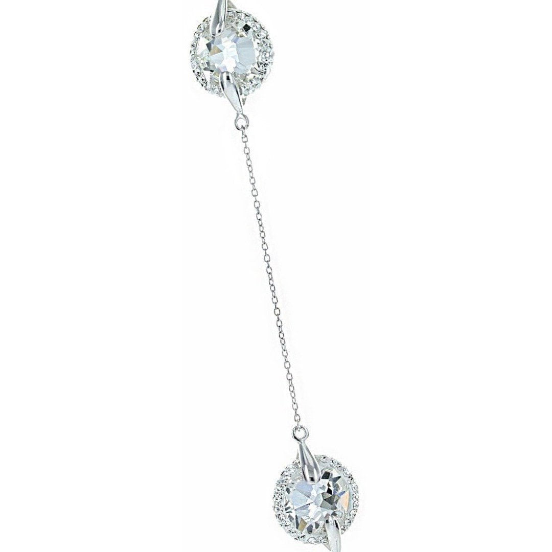 "Crystal Collection Necklaces Color / Silver Swarovski Crystal 7 Station 36"" Necklace"