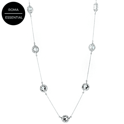"Swarovski Crystal 7 Station 36"" Necklace"