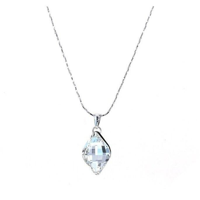 Crystal Collection Necklaces Color / Clear Swarovski Crystal and Silver Necklace