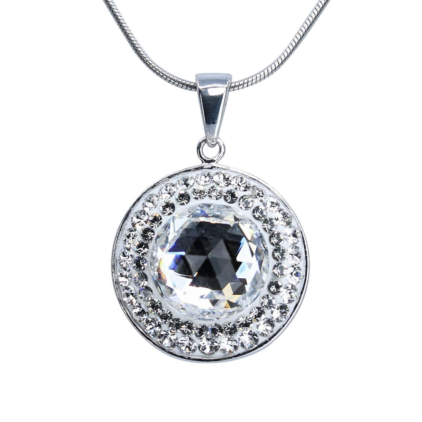 Crystal Collection Pendants Color / Clear Swarovski Crystal Halo Disc Pendant