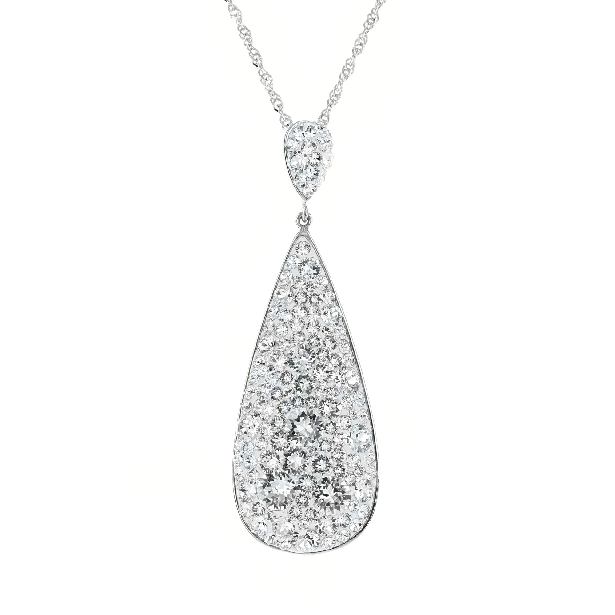 Swarovski Crystal Long Teardrop Pendant