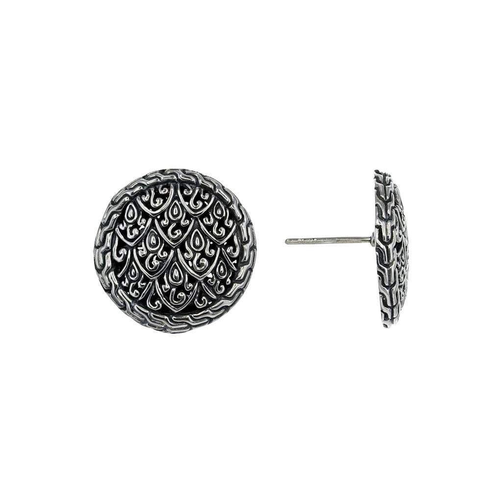 David Beck Bali Silver Filigree Round Earrings