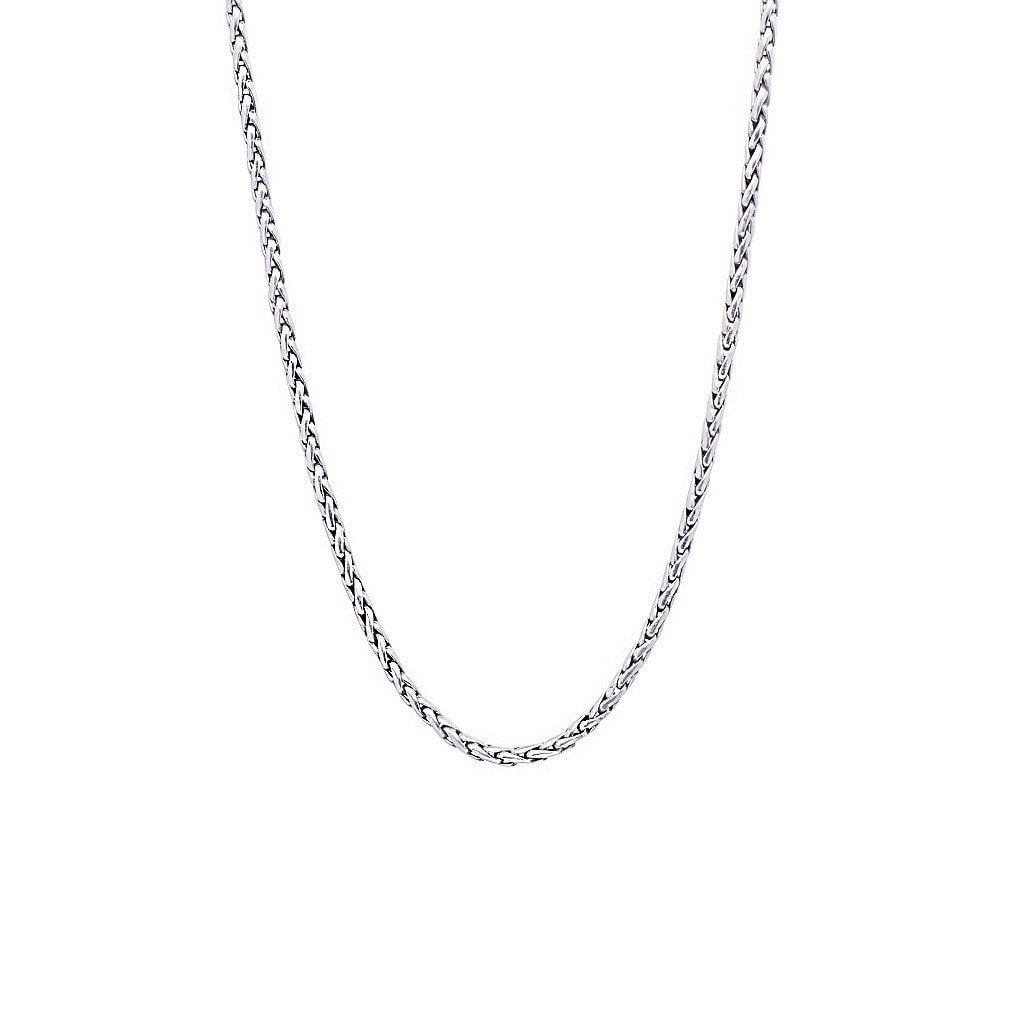 "David Beck Bali Wheat 2.5mm Silver Chain (16"" - 30"")"