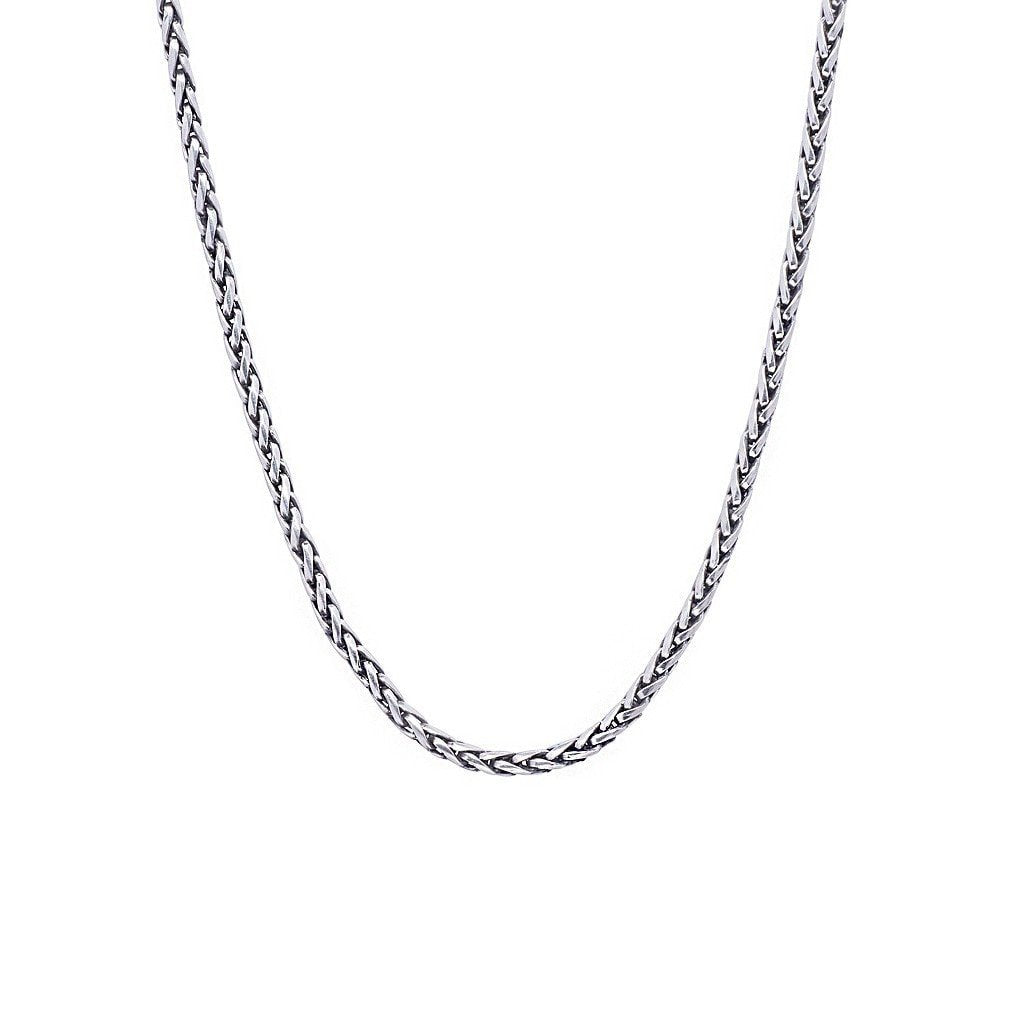 "David Beck Bali Necklaces David Beck Bali Wheat 3.5mm Silver Chain (18"" - 22"")"