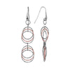 Radiance 6 Circle Earrings finished in Rose Gold & Rhodium