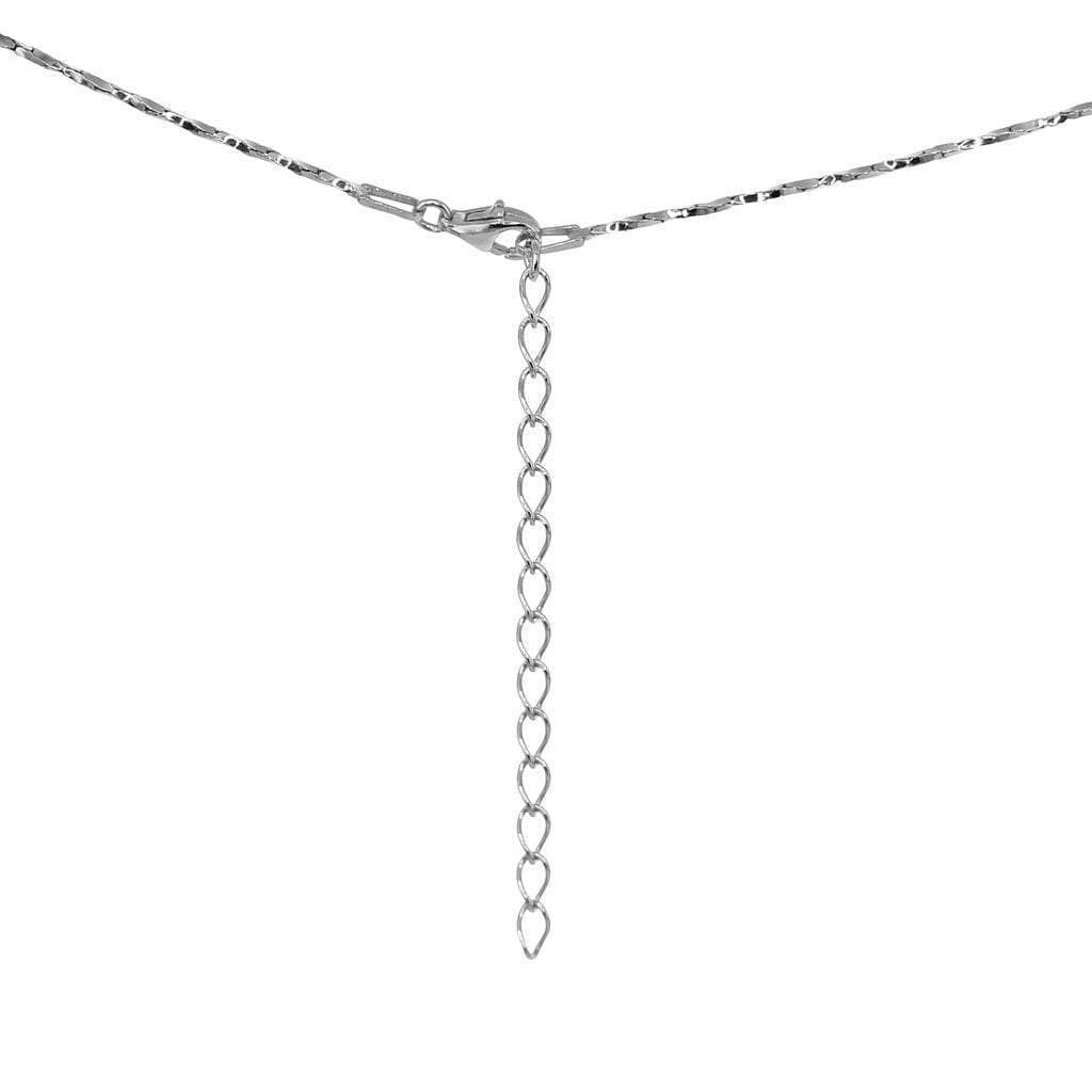 Thalia Single Ball Necklace and Earring Set with Rhodium Overlay
