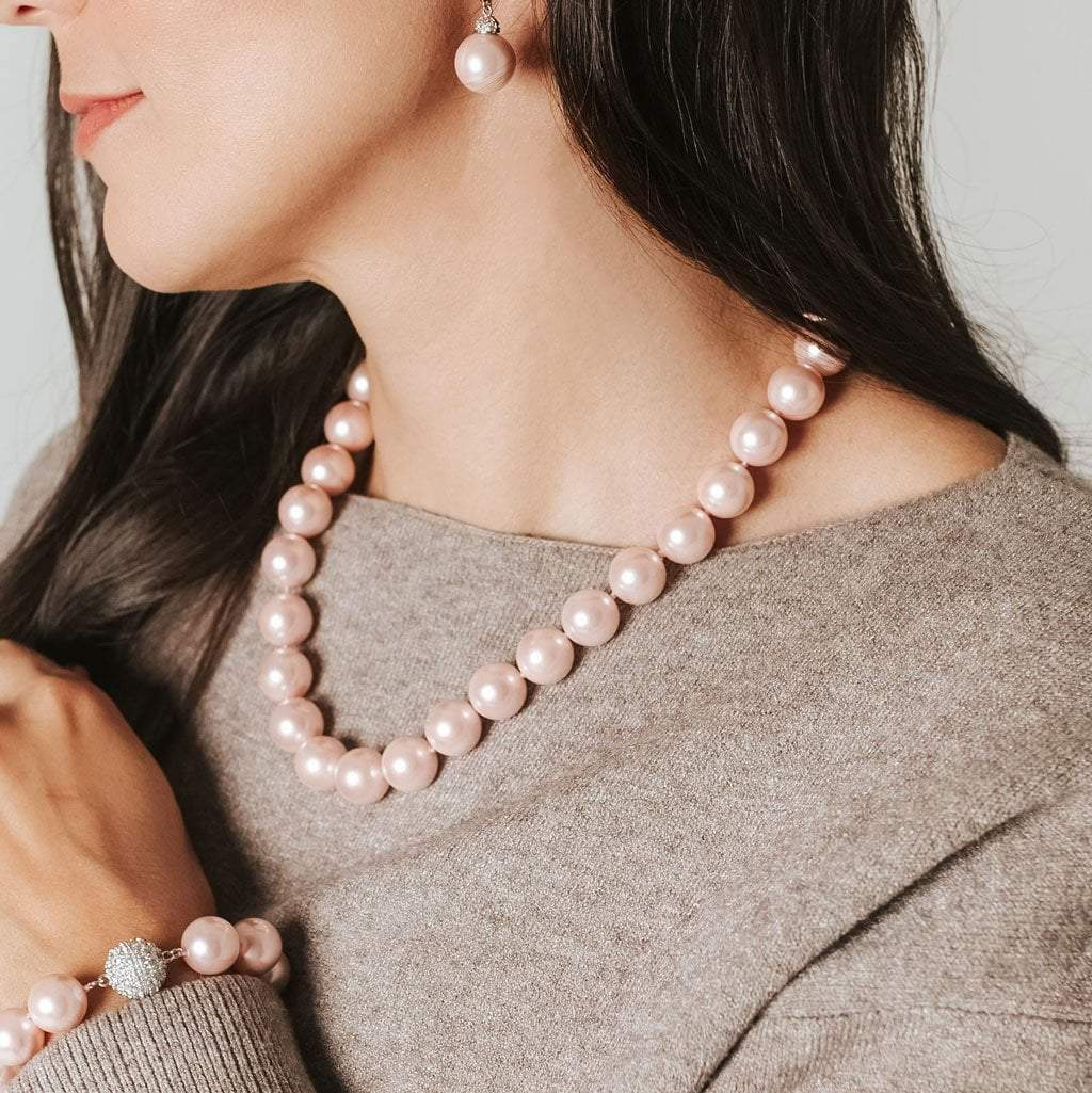 "Masami 20"" South Sea Shell Pearl Strand Necklace (Pink)"
