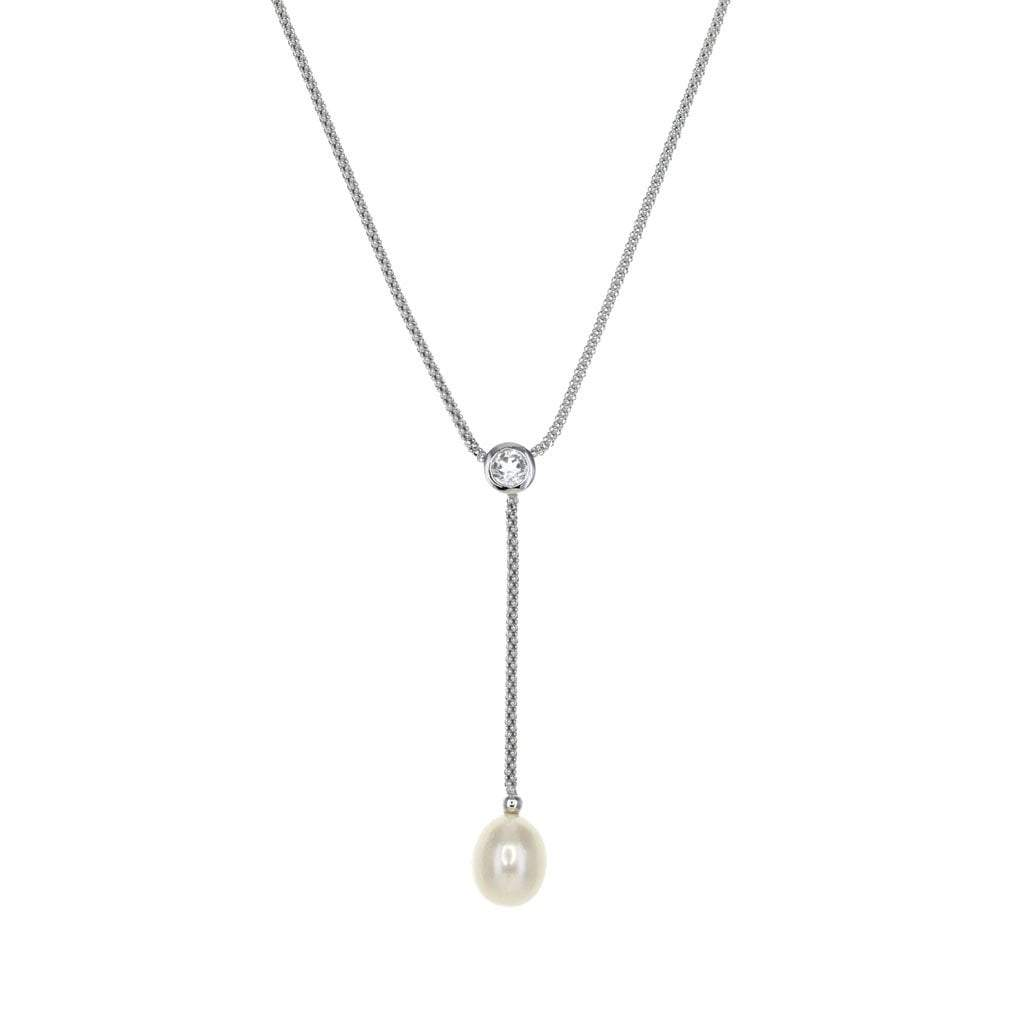Ocean Collection Necklaces Default Title / White / Pearl Single Freshwater Pearl Drop Necklace