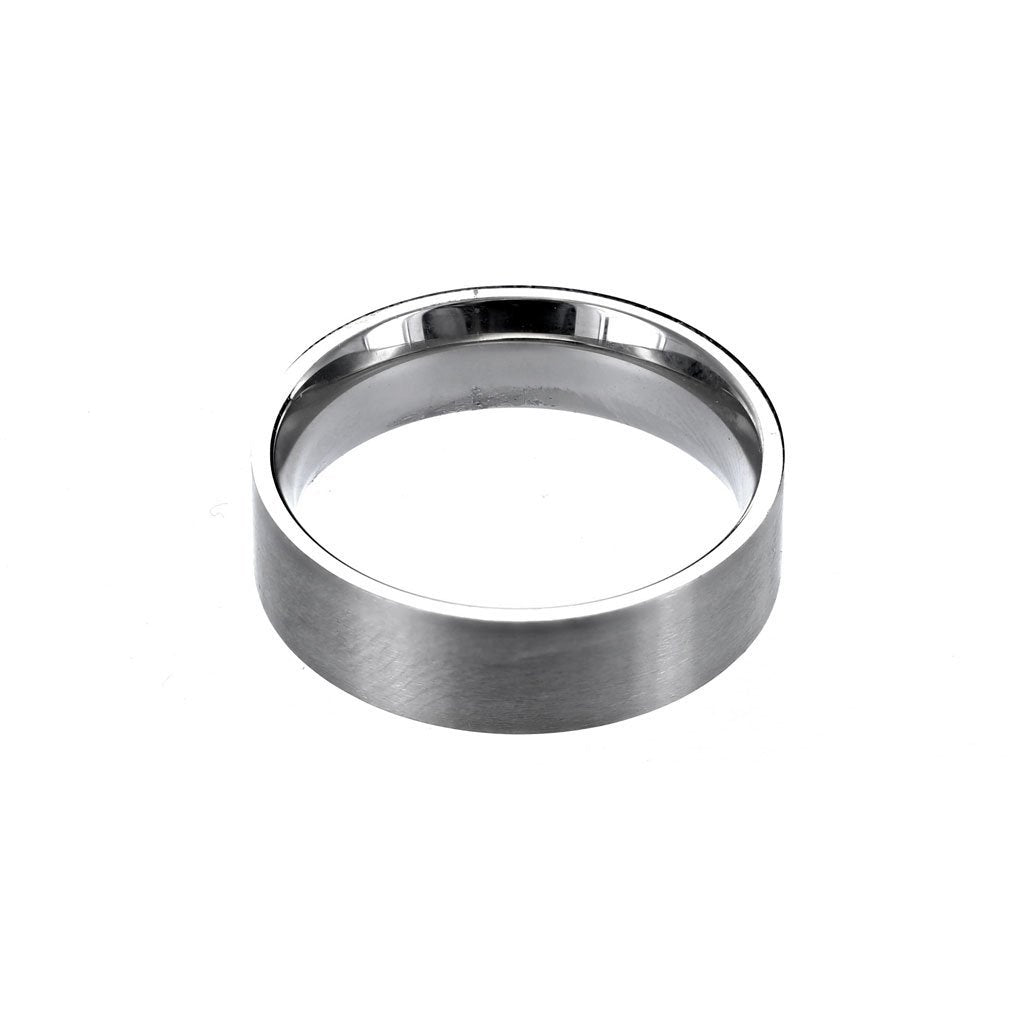 Stainless Steel Brushed Comfort Fit Men's Ring