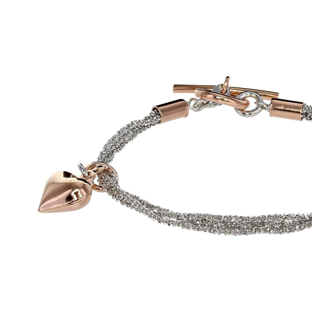 Private Collection 4 strand Heart Bracelet with Rose Gold Vermeil