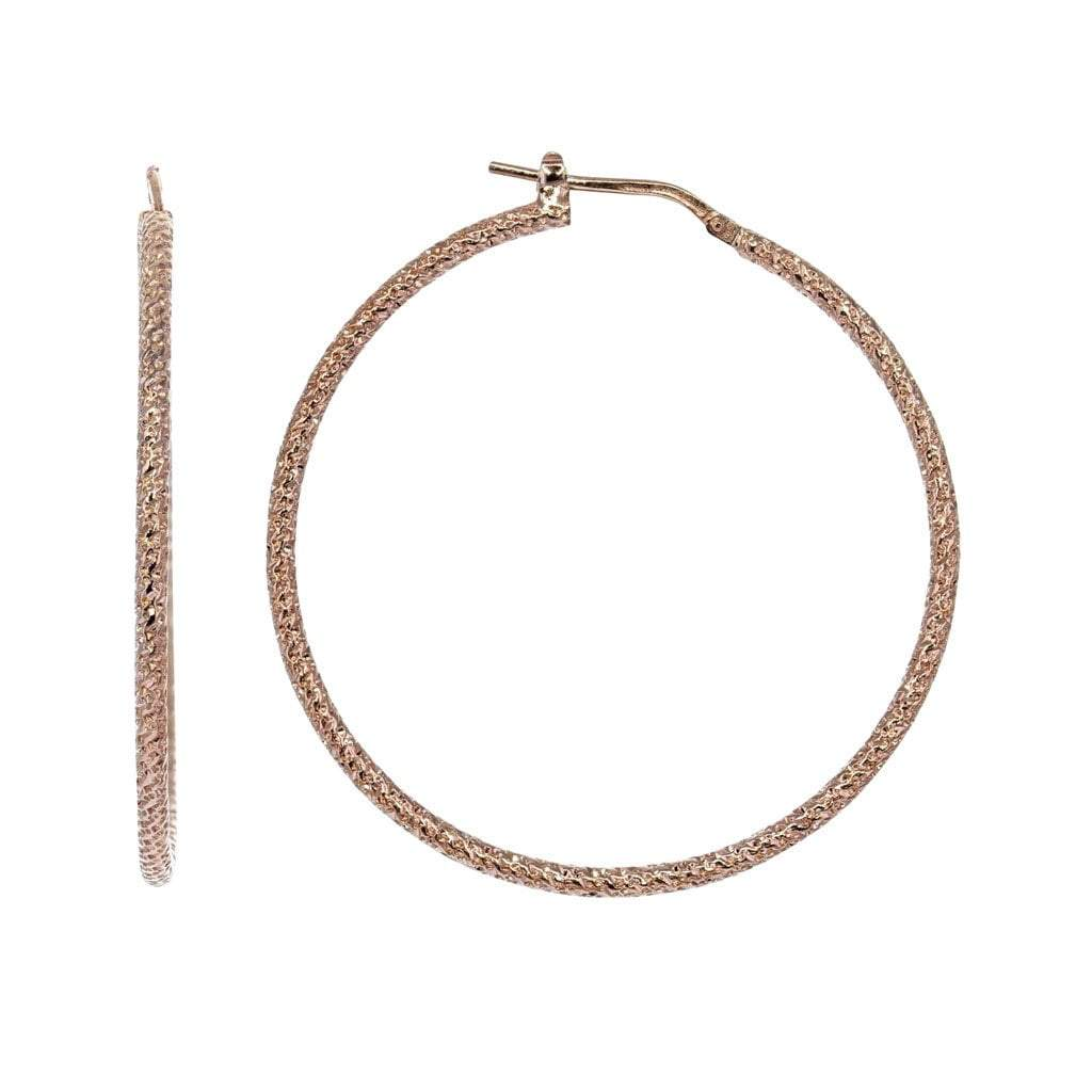 Roma Private Collection Earrings Color / Rose Private Collection Large Hoop Earrings in Rose Gold Overlay