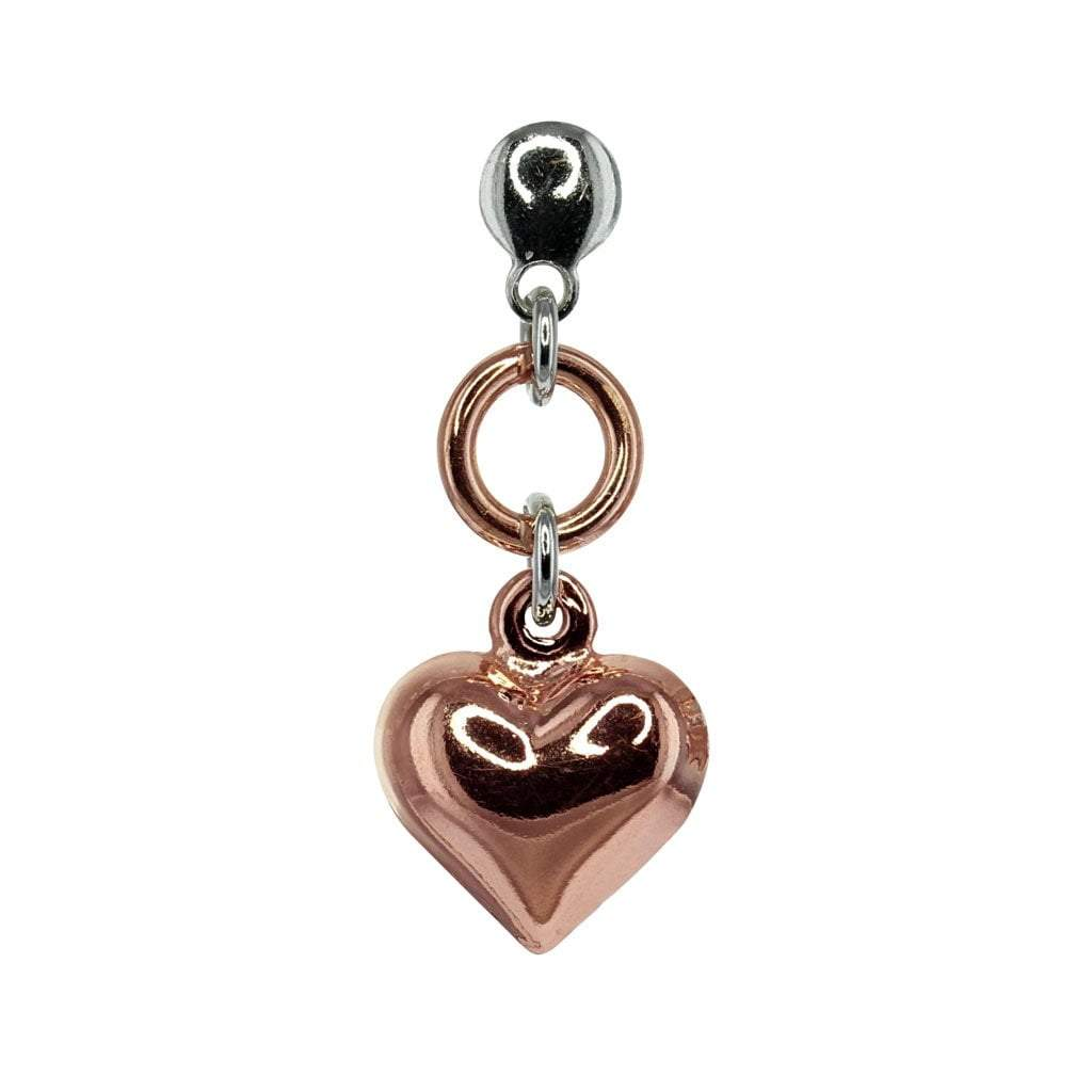 Private Collection Heart Earring in Rose Gold Overlay