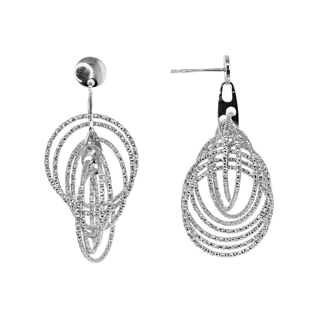 Roma Private Collection Earrings Color / Silver Private Collection 8 Floating Hoops Earring