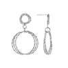 Private Collection Double Circle Dangle Earrings