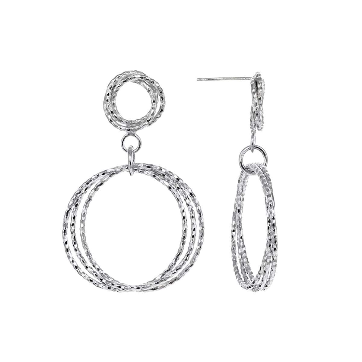 Roma Private Collection Earrings Color / Silver Private Collection Double Circle Dangle Earrings