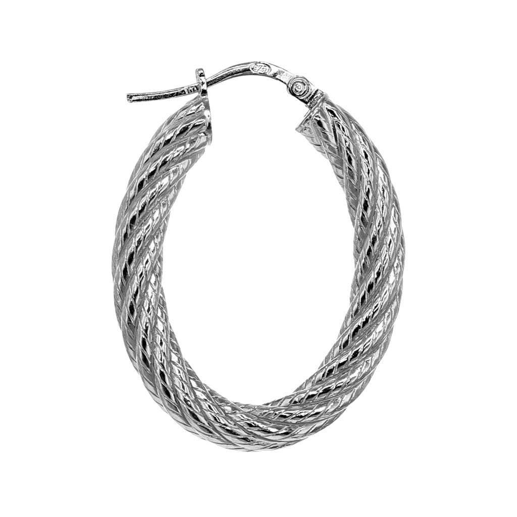Roma Private Collection Earrings Color / Silver Private Collection Rope Hoop Earring