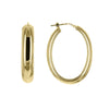 Large Oval Hoop Earrings in Gold