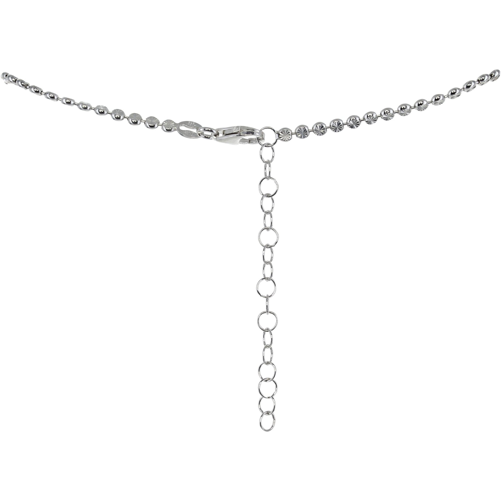 Roma Private Collection Necklaces Color / Silver Private Collection Disc Necklace in Rhodium Vermeil