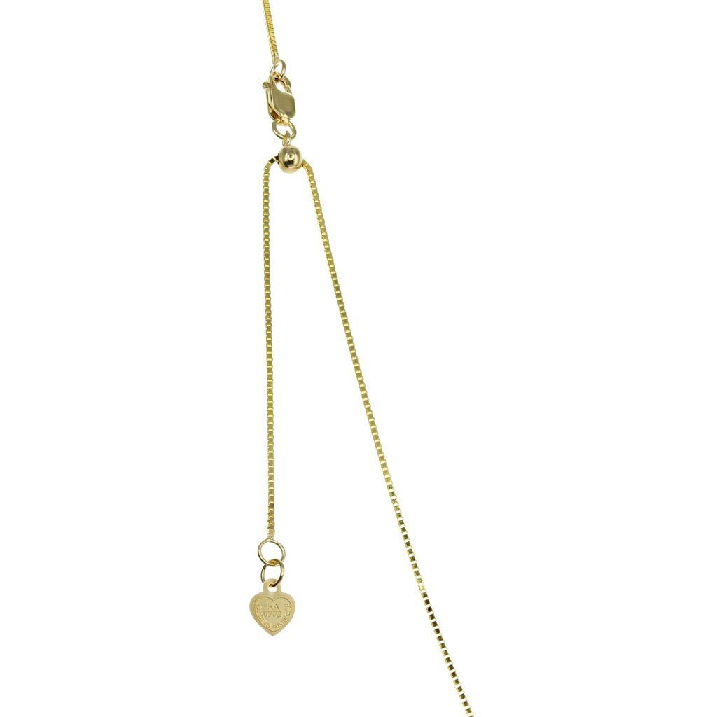 "20"" 14K Gold Box Adjustable Chain"