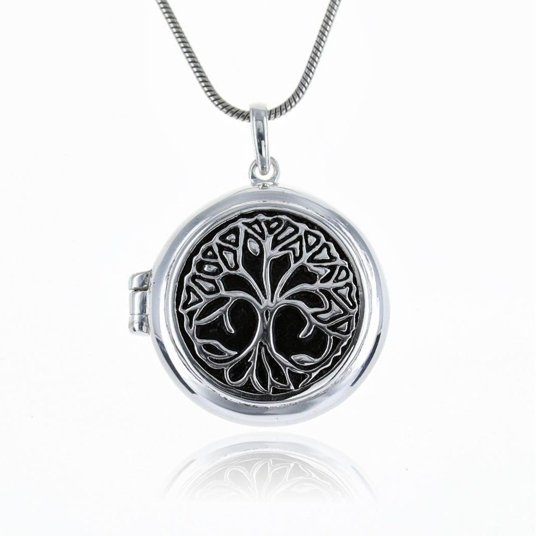 Roma Silver Collection Pendants Default Title / Silver Sterling Silver Tree of Life Locket/Pendant