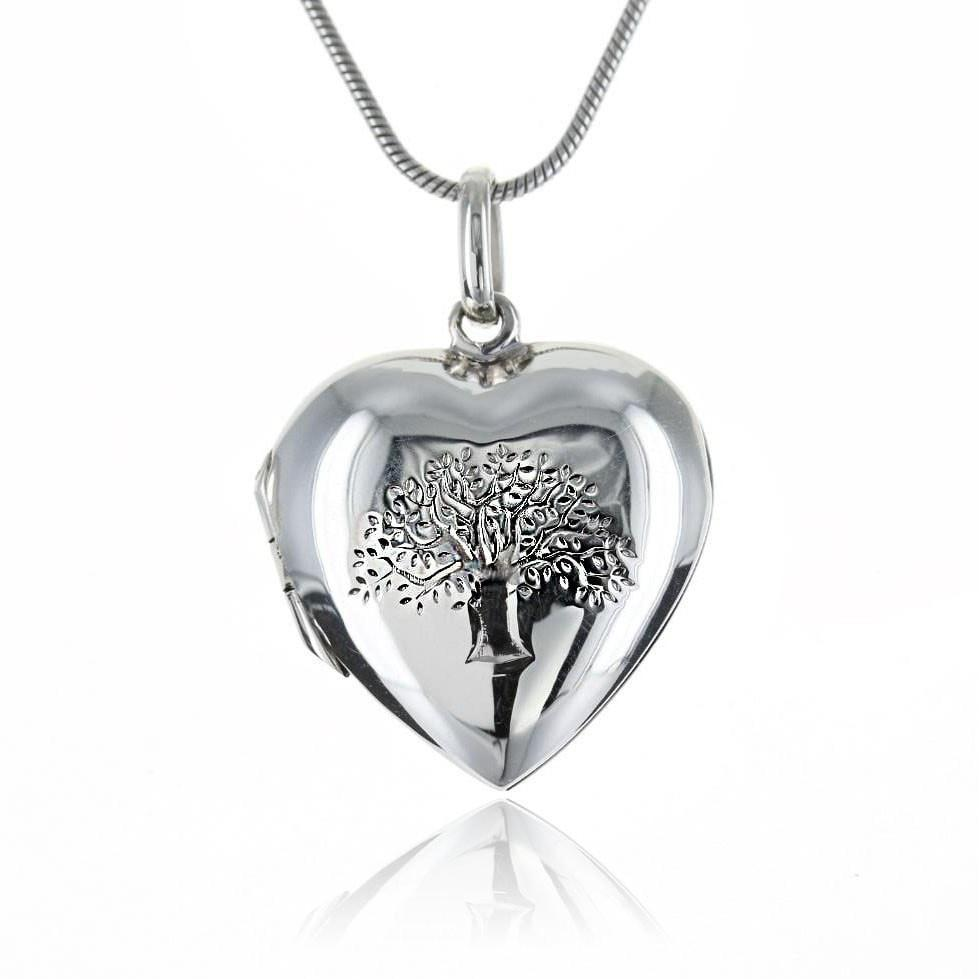 Roma Silver Collection Pendants,Locket Default Title / Silver Sterling Silver Tree of Life Heart Locket/Pendant