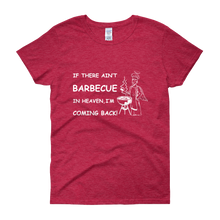 BBQ Lovers Unite! Ladies' Scoop Neck T-shirt White Text