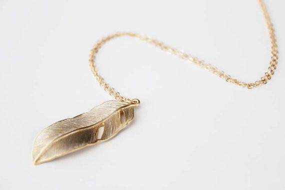 Sky feather gold or silver plated long pendant necklace tizdeals sky feather gold or silver plated long pendant necklace tizdeals aloadofball Image collections