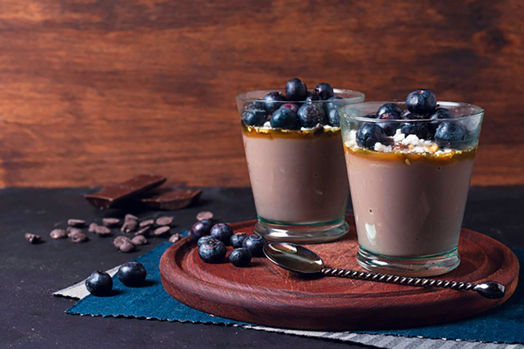 Mousse de chocolate con blueberry 🍫