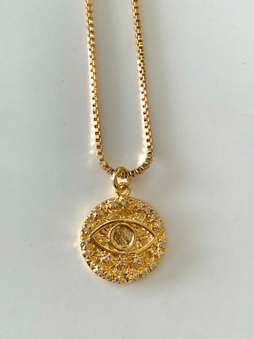 Golden Eye | Evil Eye Necklace