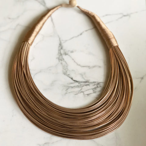 Layers on Leather Necklace