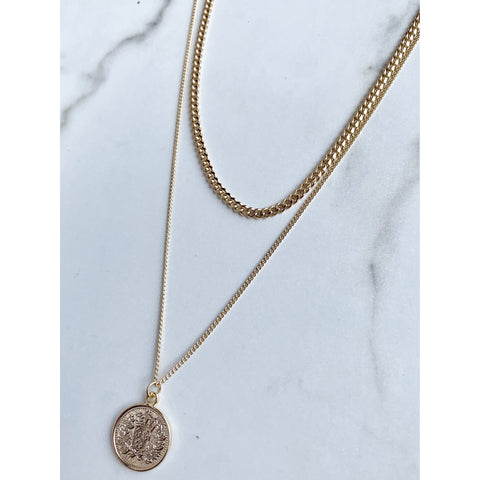 Double Up Coin Necklace