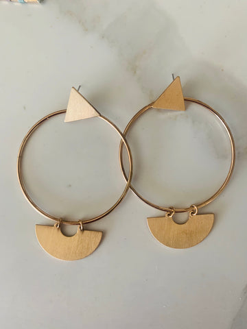 Asymmetrical Hoop Earrings