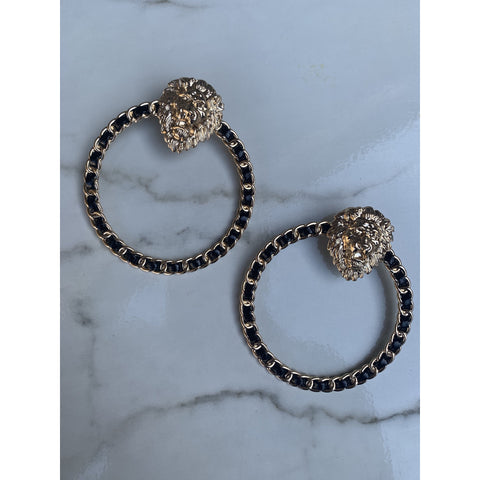 Versace Vibez Earrings - Black