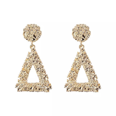 The Dynasty | Triangle Drop Earrings