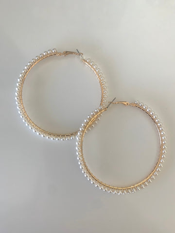 You So Pearly | Hoop Earrings